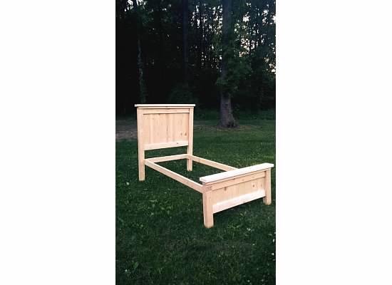 DIY Twin Farmhouse Bed